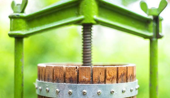 old fruit press